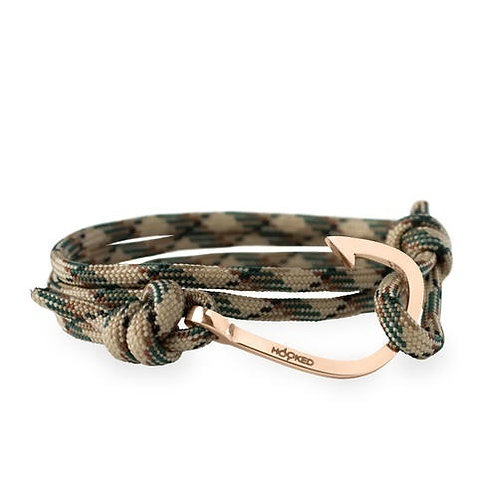 Hooked HRR33 Rose gold - Nude/green/black Paracord 3805129