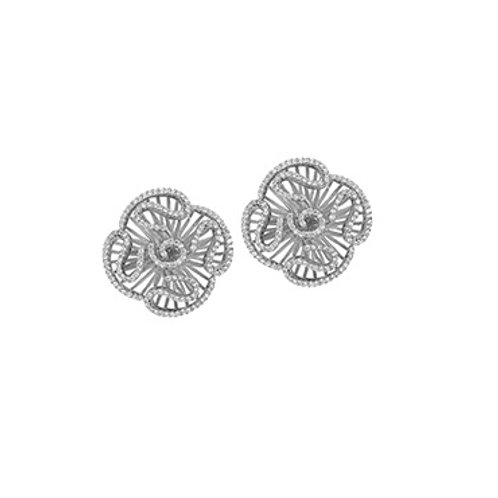 Cascade stud earrings in rhodium vermeil 4502001