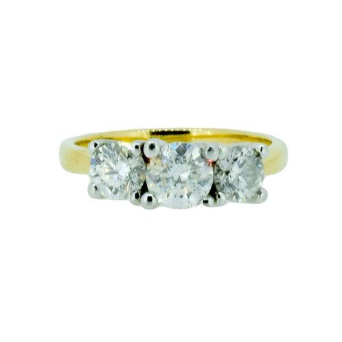 1.50ct Brilliant Cut 18kt Gold Diamond Halo Engagement Ring 0103149