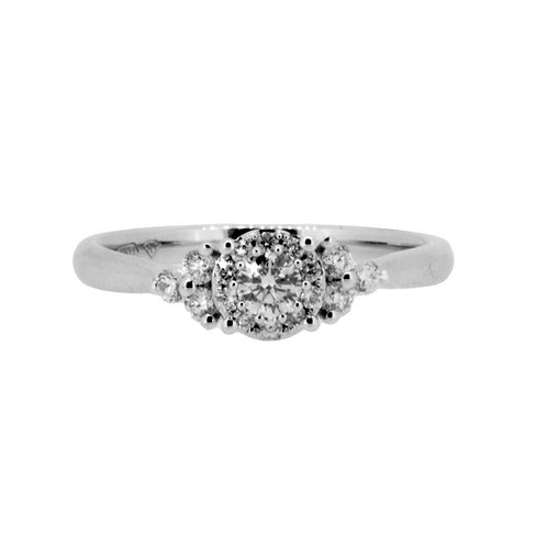 0.33ct Brilliant Cut 18kt White Gold Diamond Engagement Ring 0105070