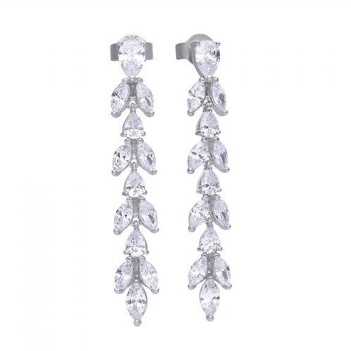 DIAMONFIRE VINE DROP STERLING SILVER EARRINGS