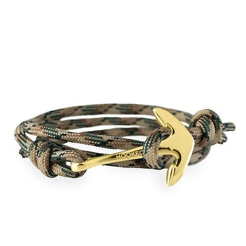 Hooked AGR33 gold - Nude/green/black Paracord 3805156