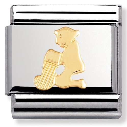 Nomination 030104 11 Classic 18kt Gold and Stainless Steel Aquarius Link