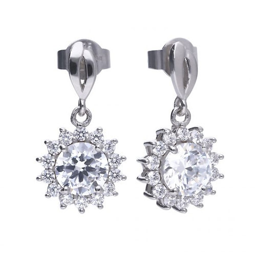 DIAMONFIRE SUN DROP STERLING SILVER EARRINGS