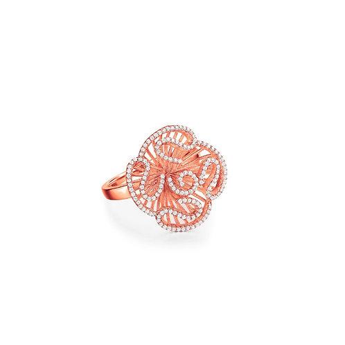 Cascade stud ring in rose gold vermeil 4503002