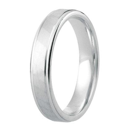 Gents Modern Patterned Diamond Cut Court Wedding Ring
