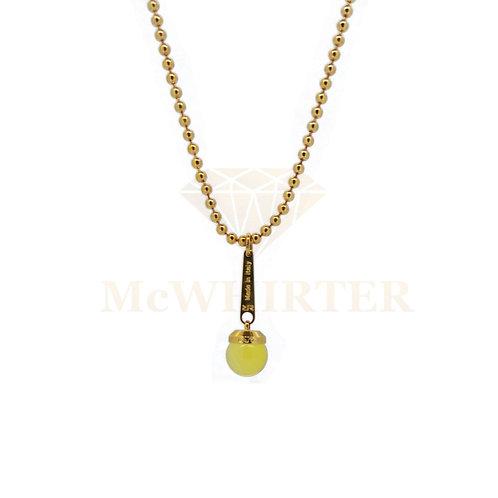 Rebecca BBCKOC03 Citrine gold plate necklace 8804204
