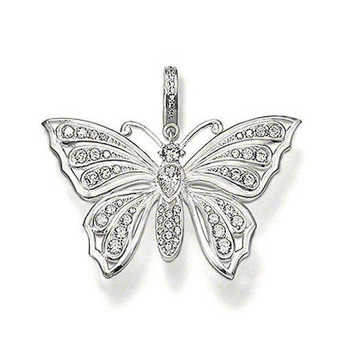 Thomas Sabo PE414-051-14 Sterling Silver Cz Butterfly Pendant 3301332