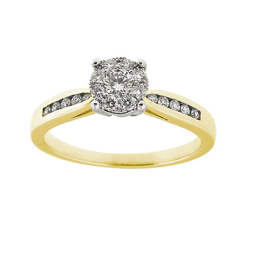 0.36ct Brilliant Cut 9kt Yellow Gold Diamond Engagement Ring 0112226