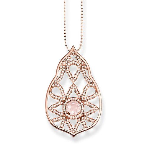 Thomas Sabo KE1378-417-9-L90v Sterling Silver 18kt Rose Gold Necklace 3306100