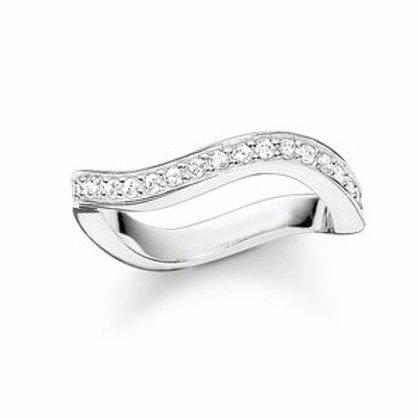 Thomas Sabo TR2010 CZ Sterling Silver Ring 3303237