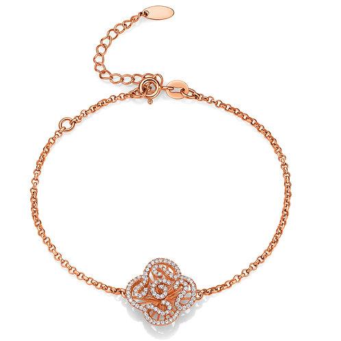 Cascade mini bracelet in rose gold vermeil 4504002