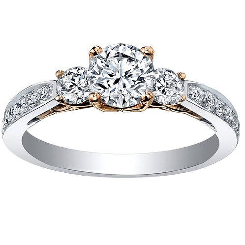 Eternal Flame 1.15 Pure 18kt Rose & White Gold Diamond Ring 0103160