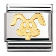 Nomination 030112 18 Classic 18kt Gold and Stainless Steel Rabbit Link