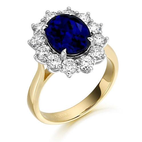CZ Ring set in 9kt gold 0504217