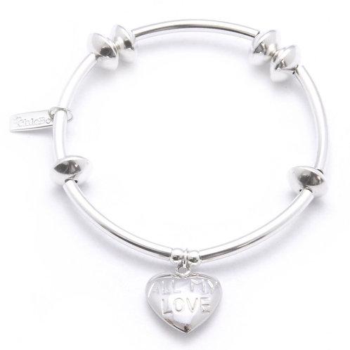 Chlobo NDA2 Noodle Ball Love Sterling Silver Bracelet 1405450