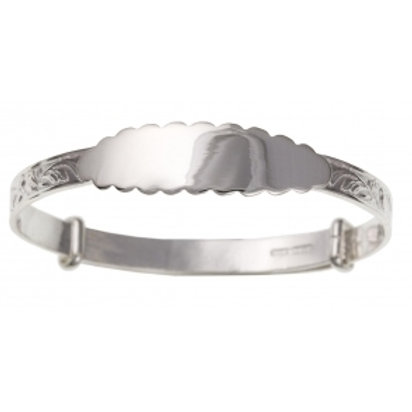 Sterling Silver Christening  ID Expanding Baby Bangle BN22107 / 1414083