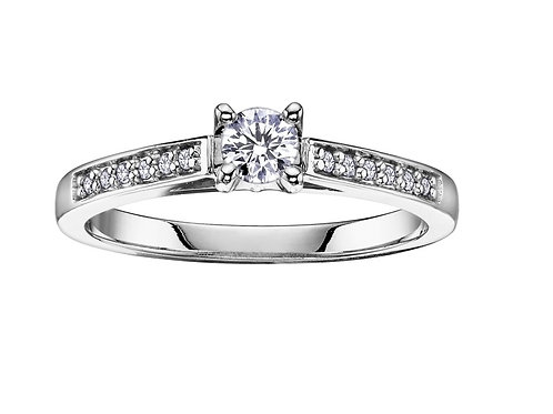 0.25ct Brilliant Cut 9kt Gold Solitaire Diamond Engagement Ring 0101149