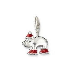 Thomas Sabo 0612 Enamel Santa Pig Silver Charm 3310612