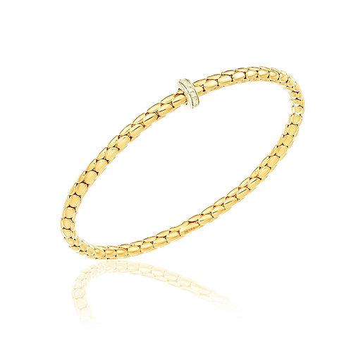 Chimento 0903019 Stretch Spring 18kt Gold Diamond Set Bracelet 1B00953B12190