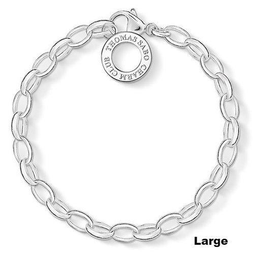 Thomas Sabo X0032 Silver Link Large 21.5cm Charm Bracelet 3311074