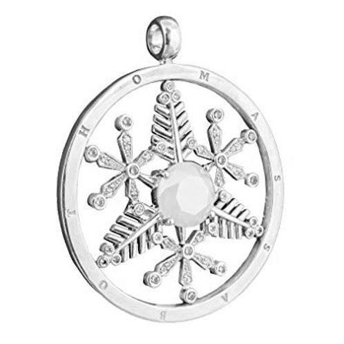 Thomas Sabo PE327-1-437 Sterling Silver Cz Snowflake Pendant 3301203