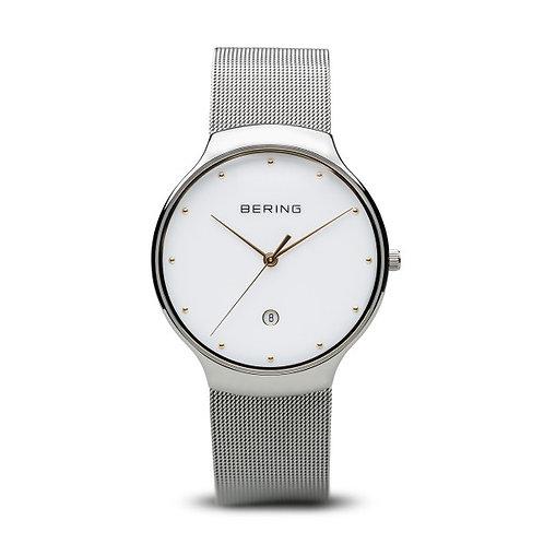 Bering 13338-001 Classic polished silver Unisex Quartz 2903343