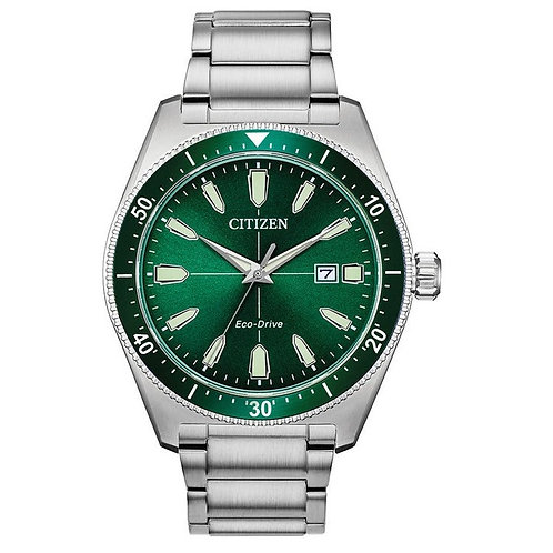 Citizen AW1598-70X Gents Green Dial Eco-Drive Sports Watch 2603112