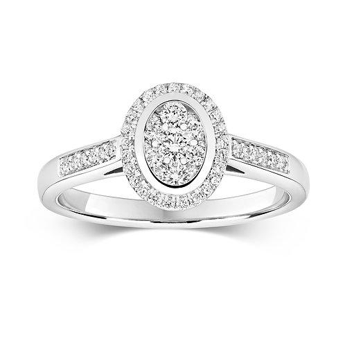 0.33ct Brilliant Cut 9kt Gold Diamond Engagement Ring 0112268