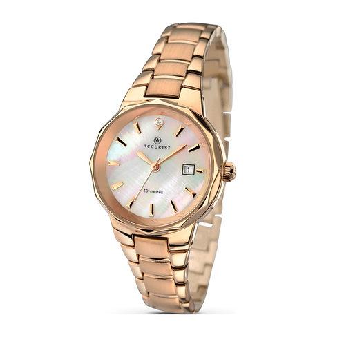 Accurist 8020 Ladies Rose Tone Quartz Watch 2701022