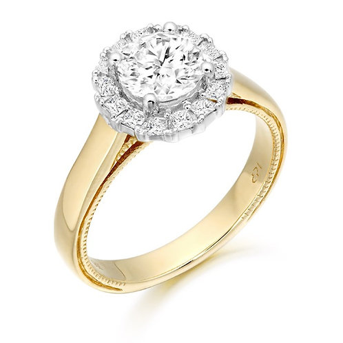 CZ Ring set in 9kt gold 0504215