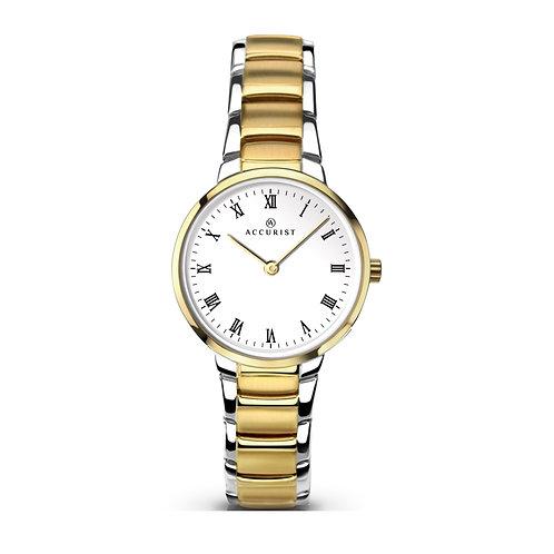 Accurist 8129 Ladies Two Tone Quartz Watch 2701042