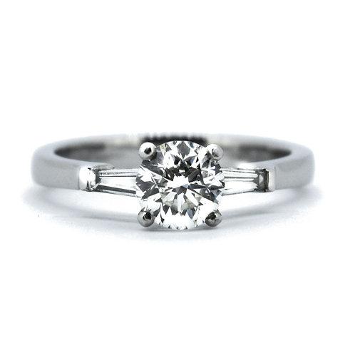 1.09ct Brilliant Cut Platinum Solitaire Diamond Engagement Ring 0101083