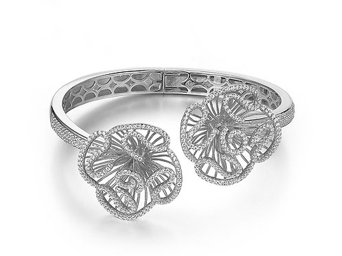 Cascade Bangle sterling silver with rhodium 4504001
