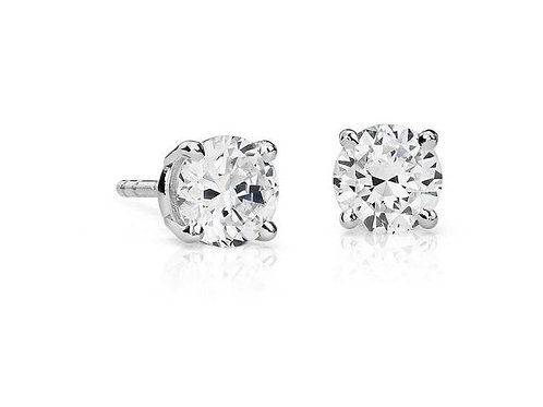 Sterling Silver CZ Stud Earrings 1402925