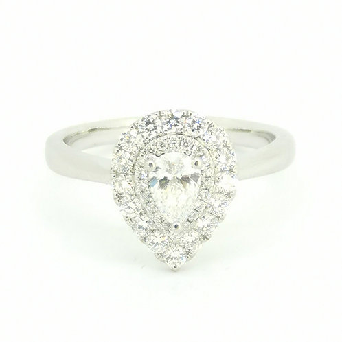 0.70ct Pear Cut Platinum D Colour Diamond Engagement Ring 0105073