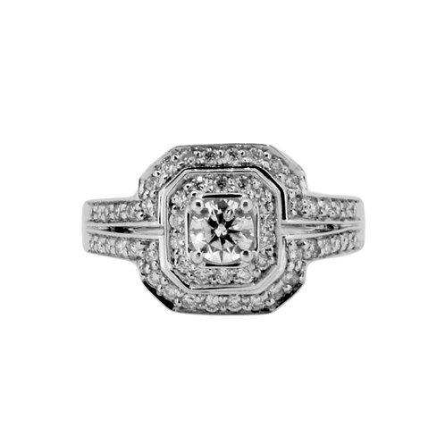 0.75ct Brilliant Cut 9kt White Gold Diamond Engagement Ring 0112129