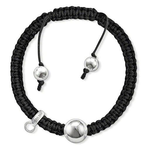 Thomas Sabo X0180 Silver Bead Adjustable Cord Bracelet 3311079