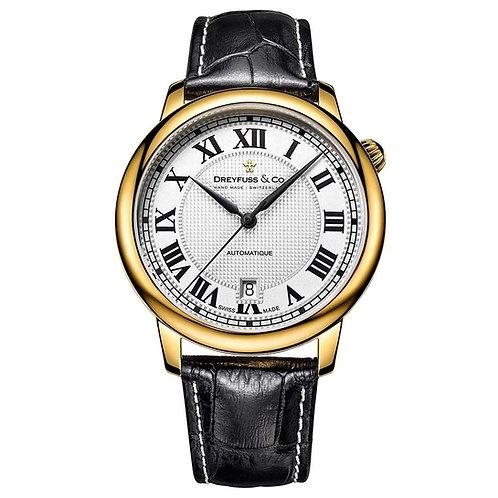 Dreyfuss & Co DGS00150-01 Gents Yellow Tone Swiss Automatic Watch 5404014