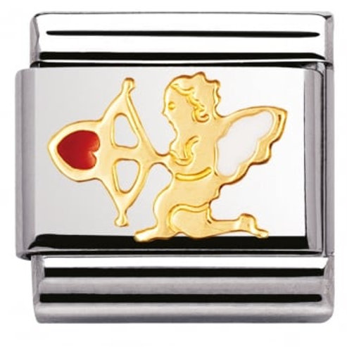 Nomination 030207 30 Classic 18kt Gold and Stainless Steel Love Messages Link