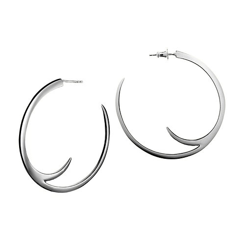 Cat claw statement hoop earrings crafted in sterling silver 1422126