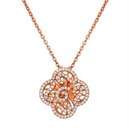 Cascade mini pendant with 18kt rose gold plate 4501004