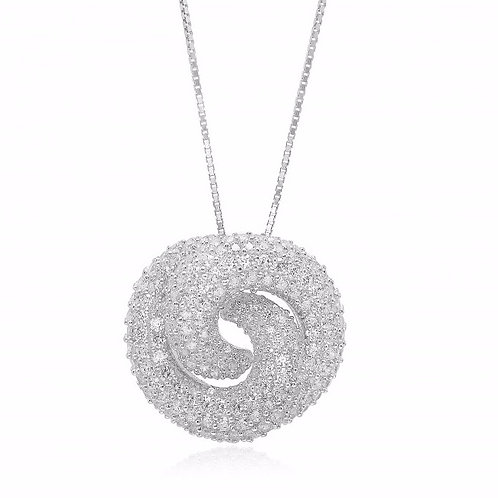 Sif Jakobs P0782-CZ Sterling Silver Necklace 4701001