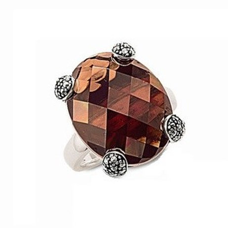 Thomas Sabo TR1759-1-780 Brown Cz Sterling Silver Ring 3303114