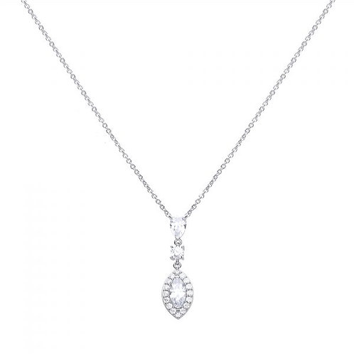 DIAMONFIRE MARQUISE AND PAVÉ ZIRCONIA STERLING SILVER PENDANT