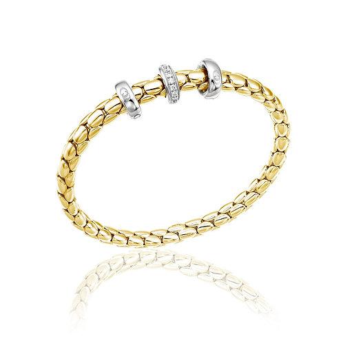 Chimento 0903008 Stretch Spring 18kt Gold Diamond Set Bracelet 1B0095B12190