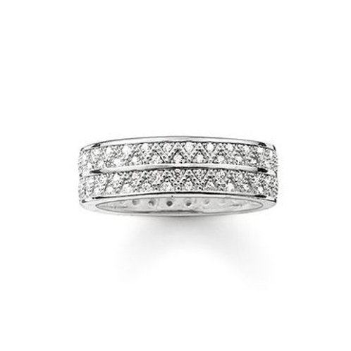 Thomas Sabo TR2051 CZ Sterling Silver Ring 3303268