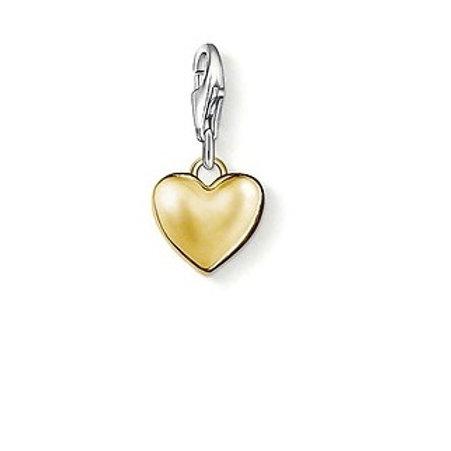 Thomas Sabo 0909 Yellow Plate Heart Silver Charm 3310909