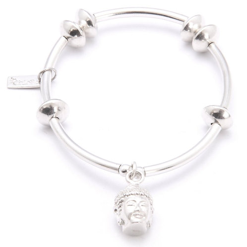Chlobo NDB6 Noodle Disc Buddha Sterling Silver Bracelet 1405453