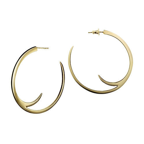 Cat claw gold vermeil hoop earrings crafted in sterling silver 1422125